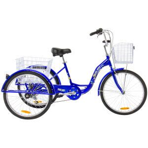 Adult Trike Bike 24 inch Blue tricycle 3 wheels