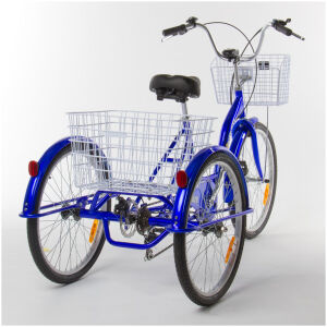 Adult Trike Bike 24 inch Blue tricycle 3 wheels