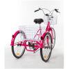 Adult Trike Bike 24 inch Pink Tricycle 3 wheels