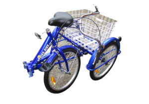 Adult Trike Bike 20 inch folding Blue tricycle 3 wheels